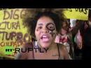 Бразилия: Сотни протеста групповом изнасиловании 16-летней девочки в Рио-де-Жанейро.