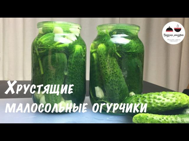 Малосольные Огурцы Хрустящие Самый простой и быстрый рецепт малосольных огурчиков Salted cucumb