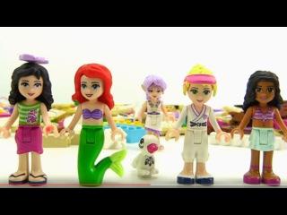 Lego. Видео для детей. Собираем из конструктора Лего пляжный домик.