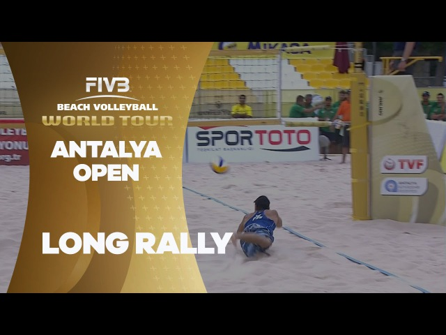 Intense rally from both teams - Antalya Open