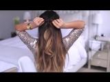Простая прическа на средние волосы своими руками видео урок