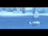 Очень забавный мультфильм про снеговика - YouTube