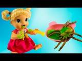 Куклы Пупсики Беби Элайф Соня стала Ведьмочкой Ест слизь игры для девочек Baby Alive