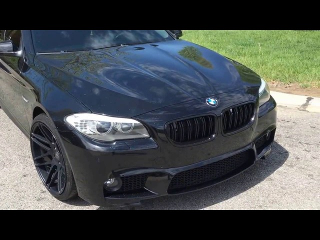 BMW F10 550i V8 TT BOV and Exhaust Revs M5 Killer