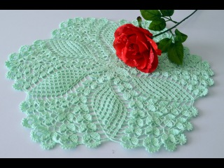 Crochet doily. Crochet tablecloth. Вязание салфетки крючком.