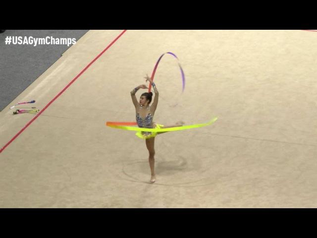 Laura Zeng - Ribbon - 2016 USA Gymnastics Championships - Prelims