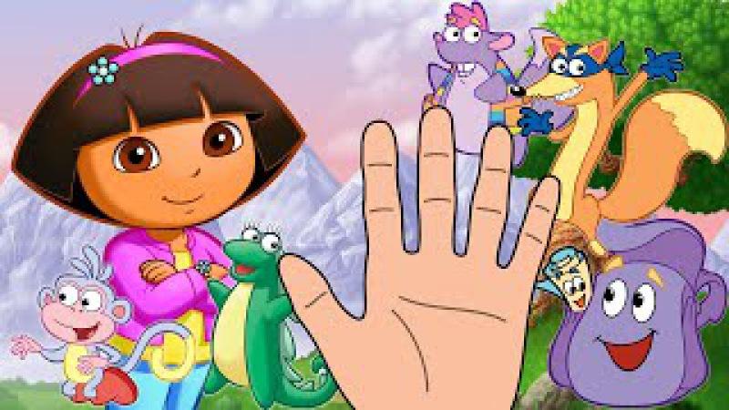 Семья пальчиков Даша путешественница. Finger Family Dora the explorer Song. Пальчики Дора.