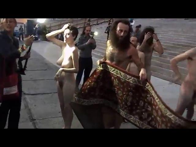 New York Nude Fashion Week Streakers!