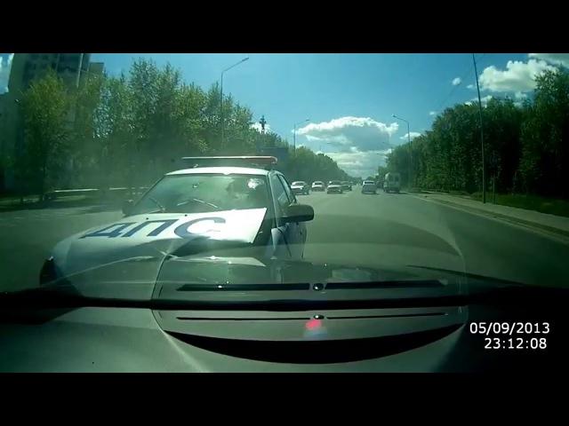 Авария с автомобилем ДПС