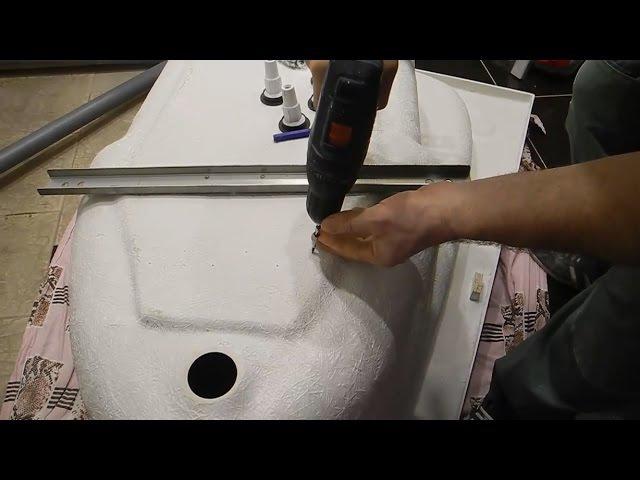 Как установить надежно,акриловую ванну ч.1