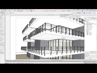 3DMD Railing - Drawing an Archicad railing on a building