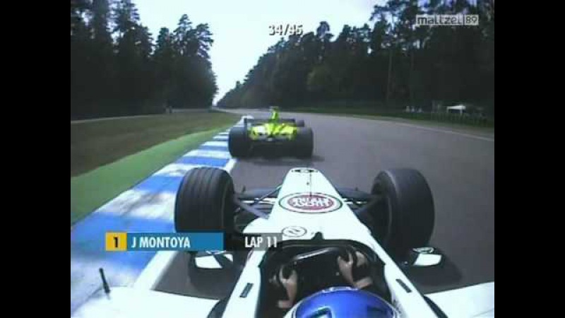 2001 German Grand Prix Olivier Panis vs Jarno Trulli onboard high speed battle