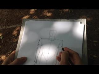 Как нарисовать человека поэтапно.