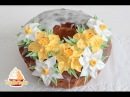 Как сделать цветы из крема Anleitung Oster Torten mit Creme Blumen dekorieren