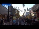 Justin Bieber and his entourage grab coffee at the grove