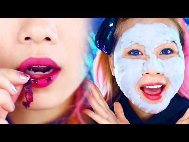 Тинт Тату и Пузырькова Маска от Елизавекка! Weird Asian Beauty Products: Bubble Mask/ My Lip tint Pack Peel off Tattoo Lip Stain