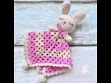 Вязаная Игрушка Комфортер Зайка | Crochet Baby Toy Bunny Doo Doo (doe doe)