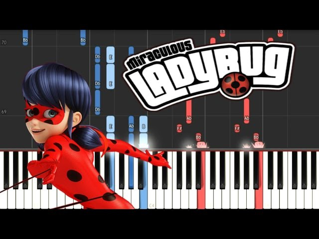 MIRACULOUS LADYBUG - Theme Song Synthesia Piano Tutorial