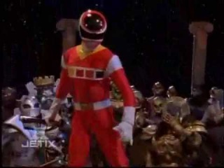Power Rangers In Space - From Out of Nowhere - Red Space Ranger's First Scene