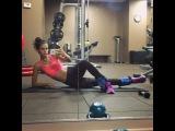 """Sara Sampaio on Instagram: """"Inner thighs 💪🏼💪🏼💪🏼 @victoriassecretsport @victoriassecret #vsx #fitnessmotivation #sundayvibes #gymtime"""""""