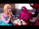 Spiderman BALLOON PRANK! w Frozen Elsa, Pink Spidergirl, Maleficent, Joker, Hulk Ariel Mermaid,m