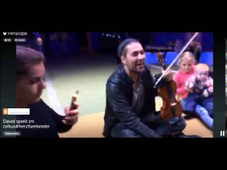 David Garret on periscope - Playing a little concert for the kids (5-12-2015)
