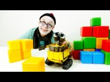 Toy videos for kids. Funny clown and robot WALL-E