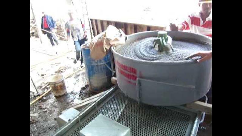 Mortar pump mixer - step 1 - mix.MOV