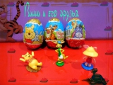 Винни Пух, шоколадные яйца Дисней / Winnie the Pooh Kinder Surprise eggs unbox