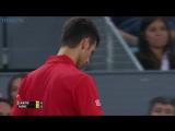 Great point won in the performance of Novak Djokovic