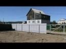 Забор из профнастила с воротами и калиткой