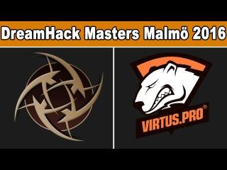NiP vs VP - DreamHack Masters Malmö 2016 - BO3 - map1 - Ninjas in pyjamas vs Virtus.pro