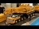 HUGE RC SCALE MODEL CRANE TRUCK FRANZ BRACHT KG DEMAG AC-1200 AT WORK AMAZING / Intermodellbau 2016
