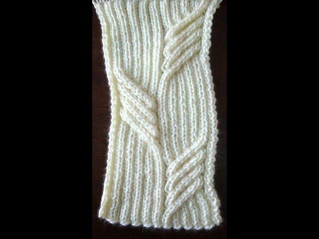 KNITTING PATTERN - SWEEPING CABLE TUTORIAL