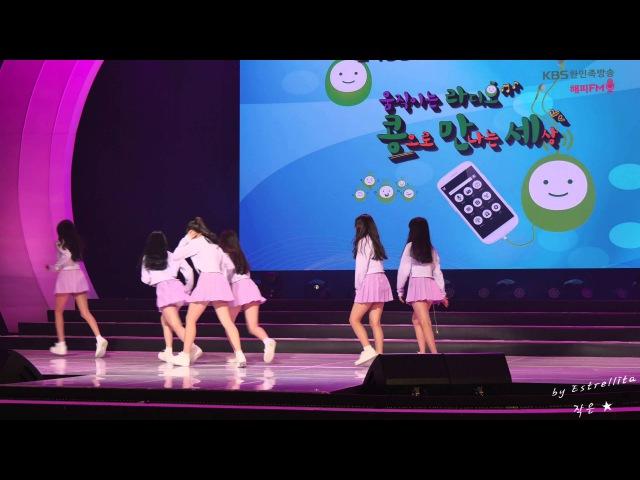 [4K] 20150215 여자친구(GFRIEND) KBS라디오 '콩으로 만나는 세상' 공개방송 - 04.퇴장