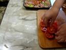 Индюшиная грудка запеченная с гречкой и овощами в духовке