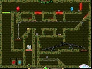 Прохождение игры Огонь и Вода #1 Лесной храм.