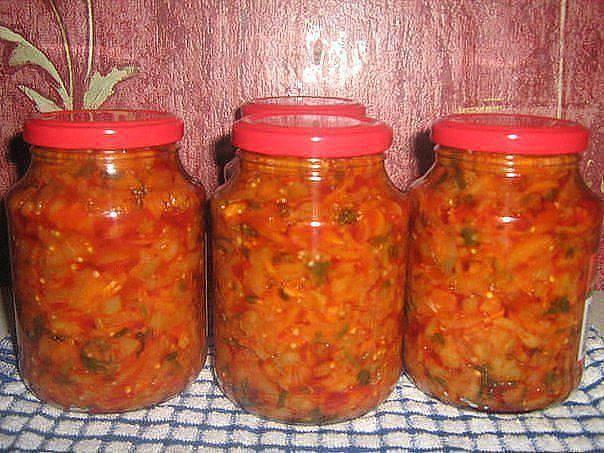 Салаты на зиму самые вкусные рецепты с помидорами