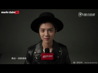 [BTS] 160111 Marie Claire Magazine Behind The Scene and Q&A @ LuHan