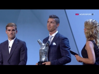 Криштиану Роналду - лучший игрок Европы. Запись.
