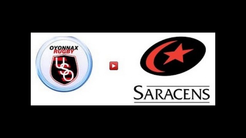 European rugby champions cup 2015. Oyonnax Rugby - Saracens 13.12.15