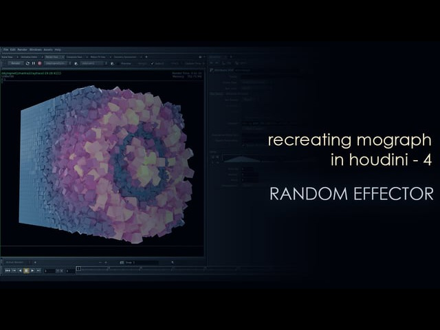 Recreating Mograph in Houdini- 4 - Random effector