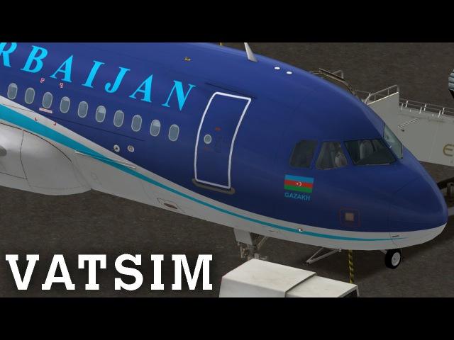 [FSX] AZERBAIJAN 704 | Full Appraoch and Landing at Abdu Dhabi (OMAA) | Aerosoft A319 | VATSIM ATC