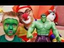 Видео для детей. Клоун Дима и веселый аквагрим. Халк супергерой.