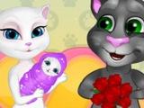 Игра говорящая кошечка анжела стала мамой !!! Игры для девочек !!! Кошка анжела играть онлайн !!!