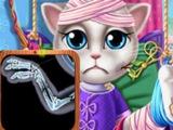 Игра Кошка Анжела в Госпитале ОНЛАЙН БЕСПЛАТНО ! Лучшие игры для детей ! Летс плей !