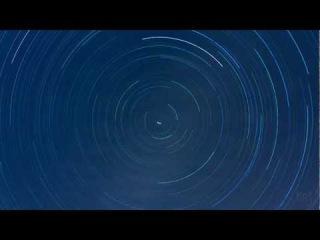 The motion rotation of stars around Polaris star.