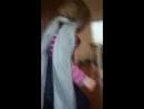 Девочки в первый раз играли в жмурки