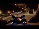 深夜の公道を270km hで飛ばしまくるSuzuki GSX R600の車載映像