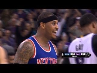 Controversial Finish In Sacramento | Knicks vs Kings | December 10, 2015 | NBA 2015-16 Season